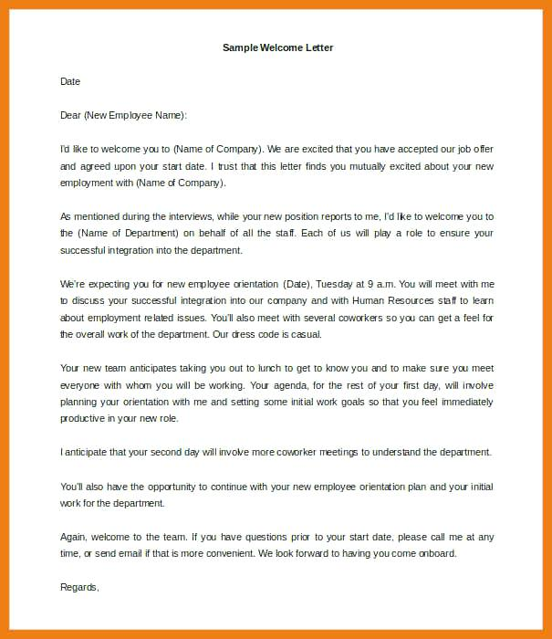 Introduction New Customer Welcome Letter Template