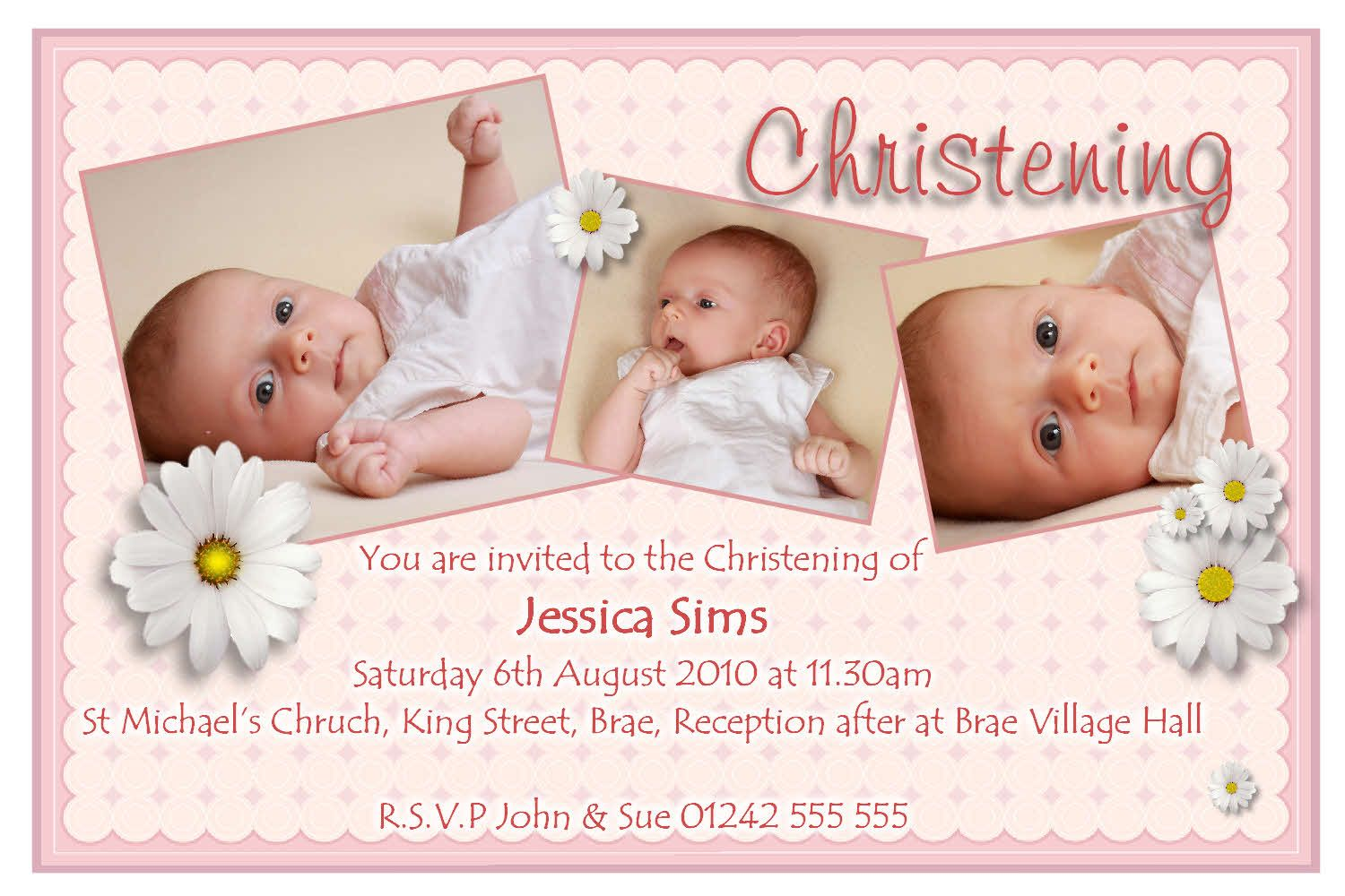 Invitation Templates For Baptism