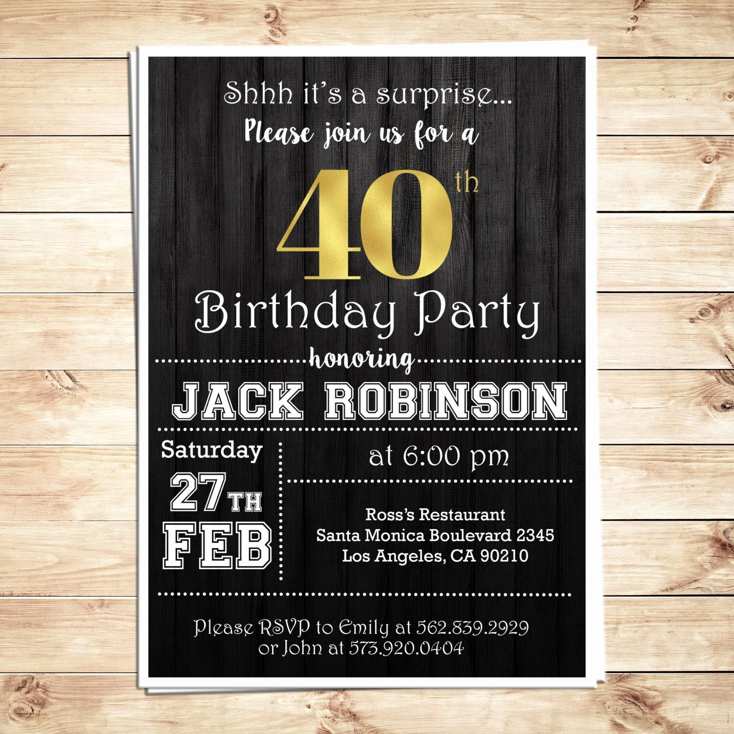 Jack Daniels Blank Invitation Template