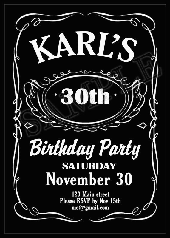 Jack Daniels Birthday Invitation Template Free Printable Jack Daniels Themed Birthday Party Invitation
