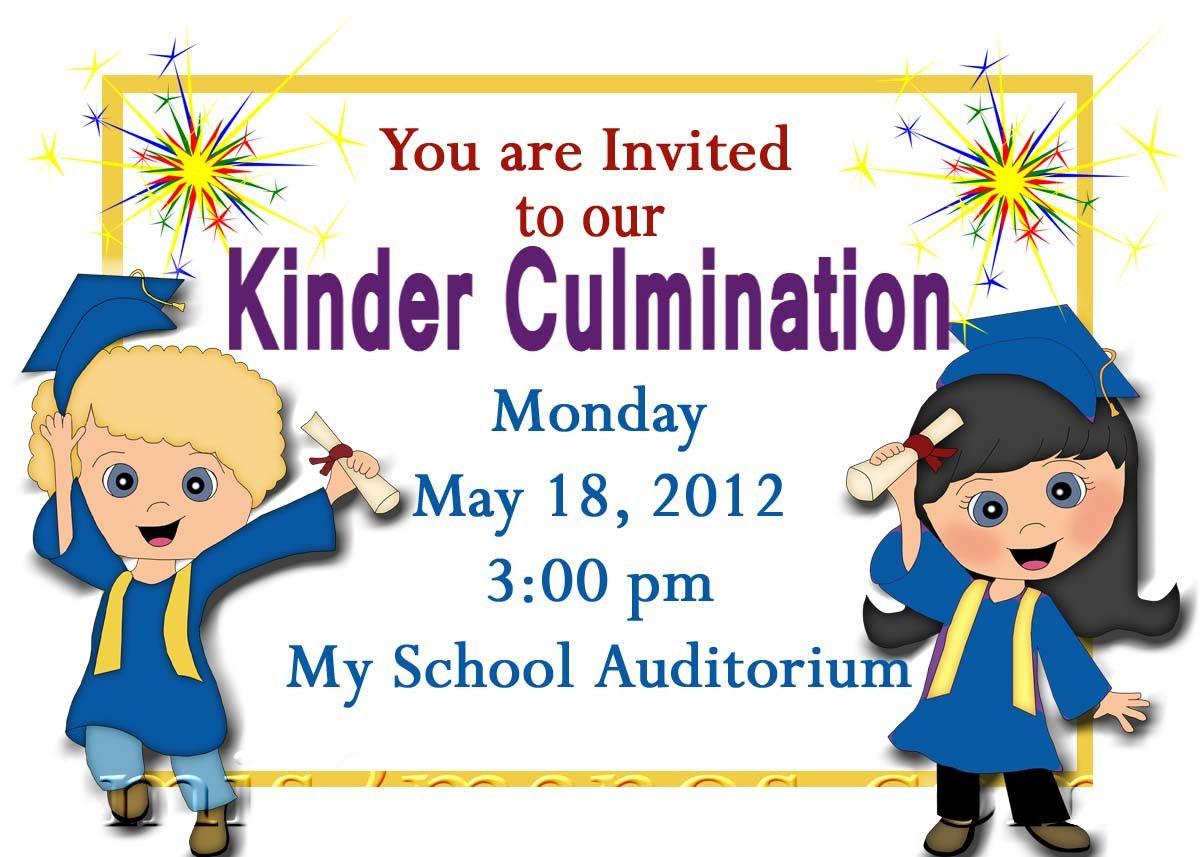 Kindergarten Graduation Invitation Templates Free