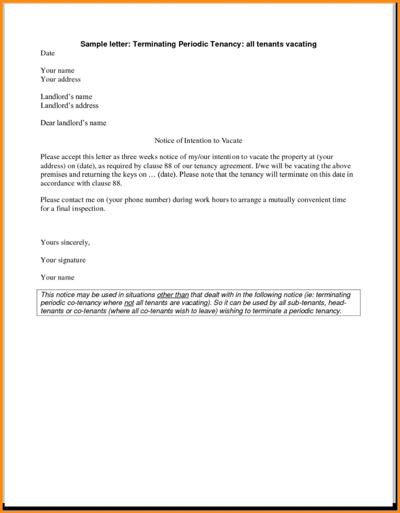 Landlord Eviction Letter Template Uk