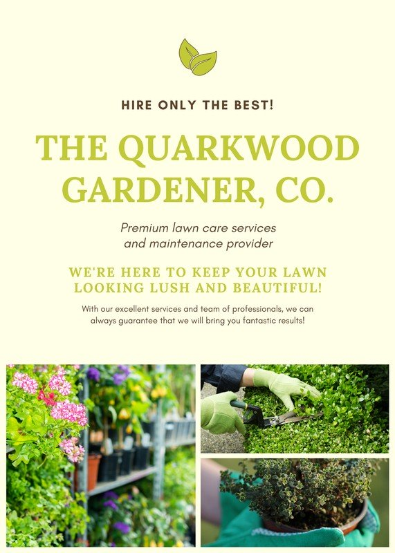 Landscaping Flyer Templates