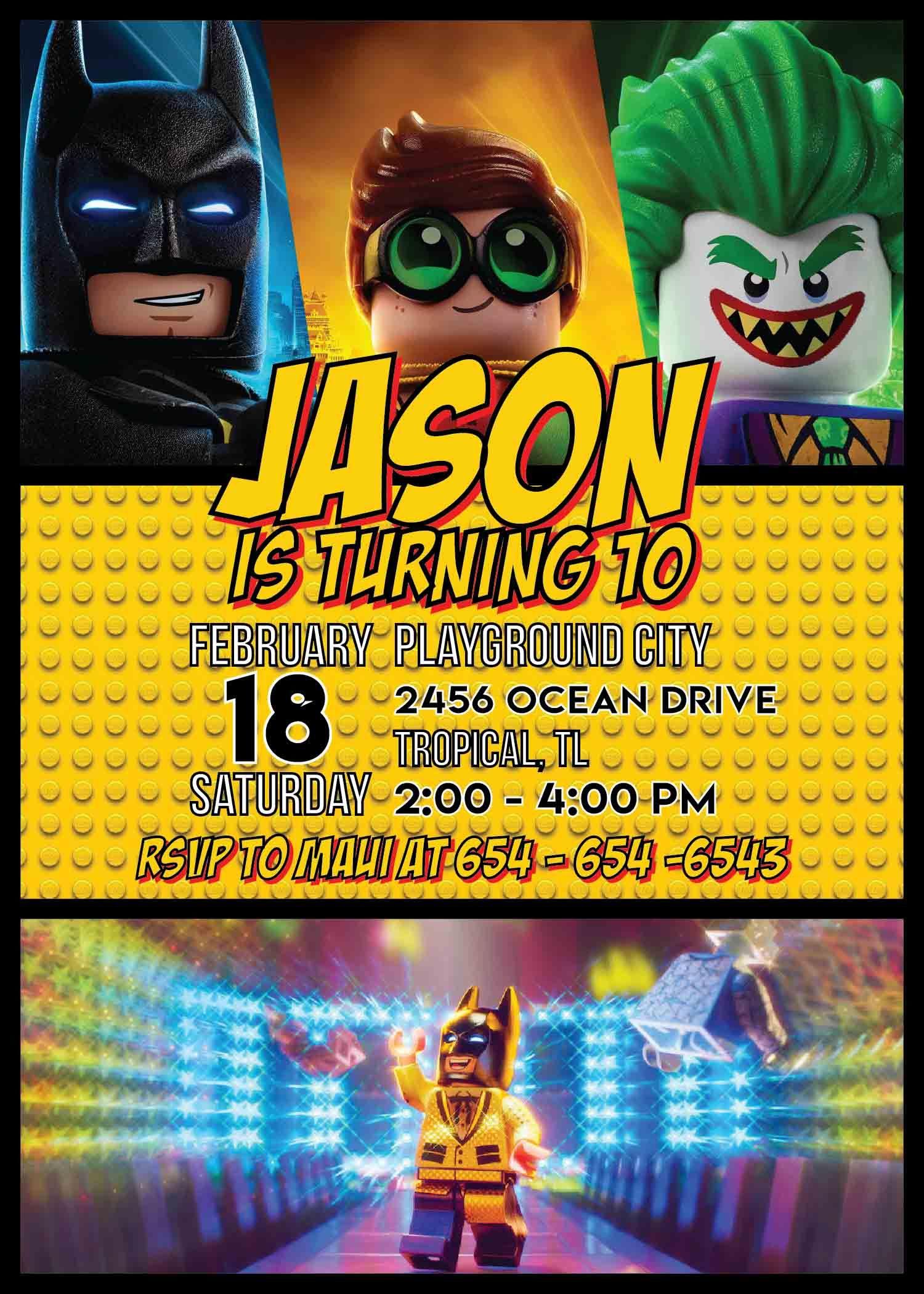 Lego Batman Invitation Template
