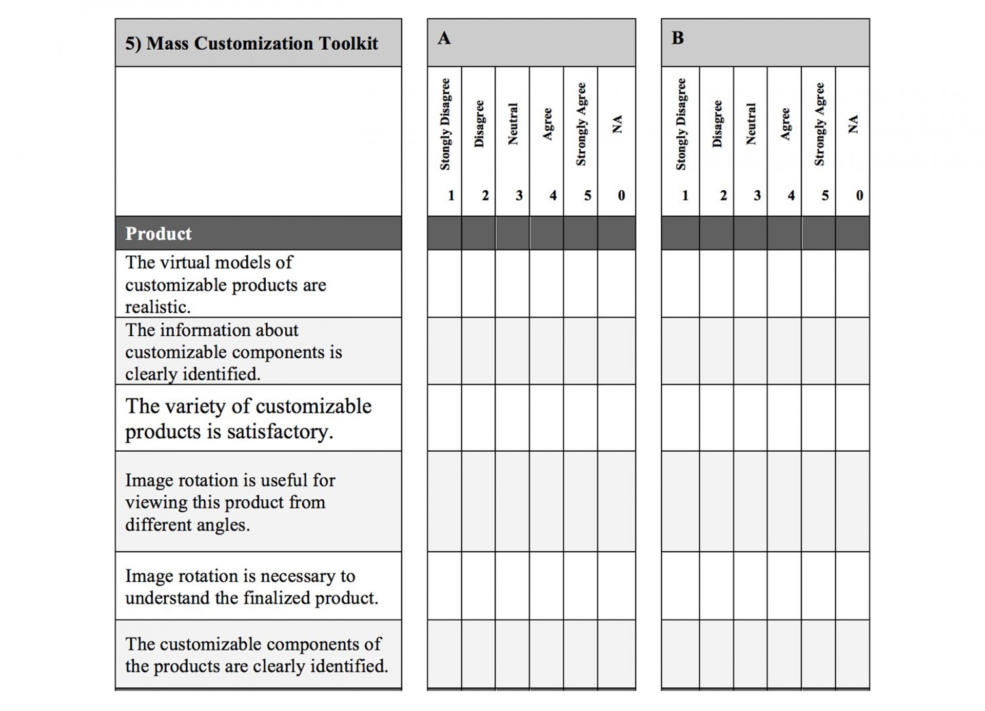 Likert Scale Survey Template Word