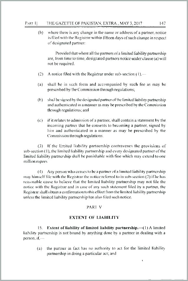 Limited Liability Partnership Agreement Template Uk