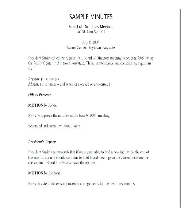 Llc Annual Meeting Minutes Template Pdf