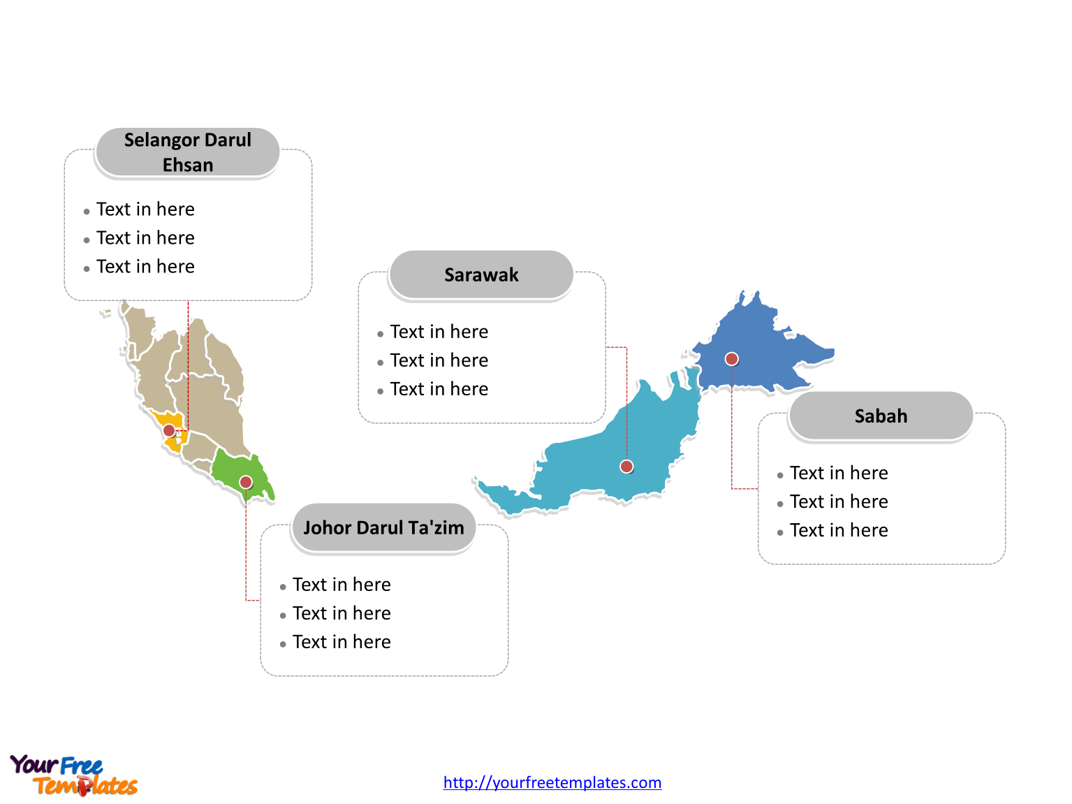 Malaysia Map Powerpoint Templates Free