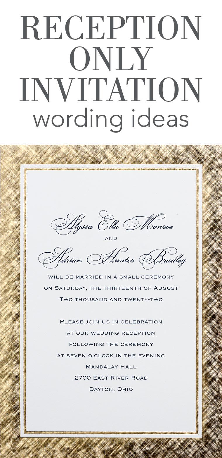 Marriage Reception Invitation Templates