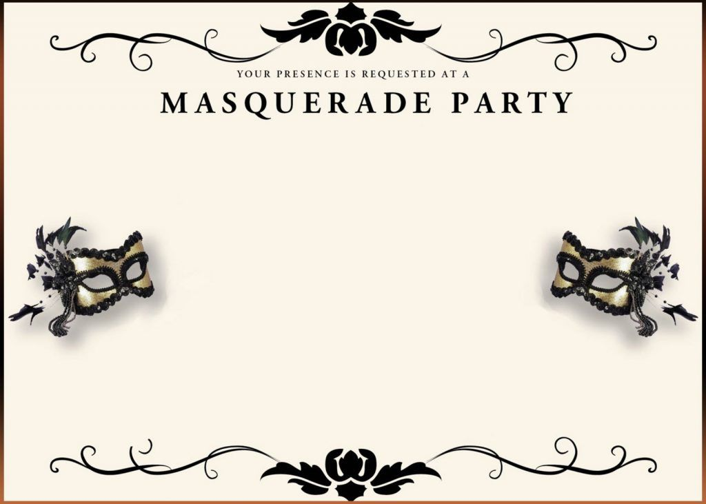 Masquerade Invitations Template