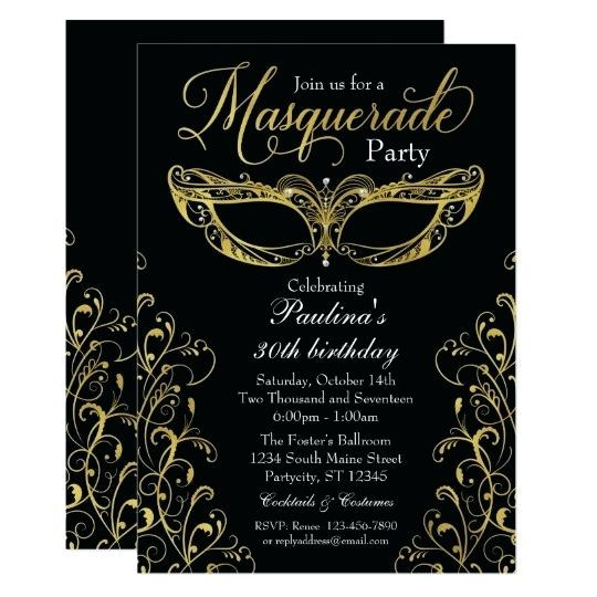 Masquerade Masks Invitations Templates
