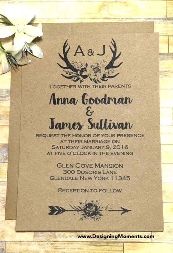 Medieval Wedding Invitation Templates Free Download