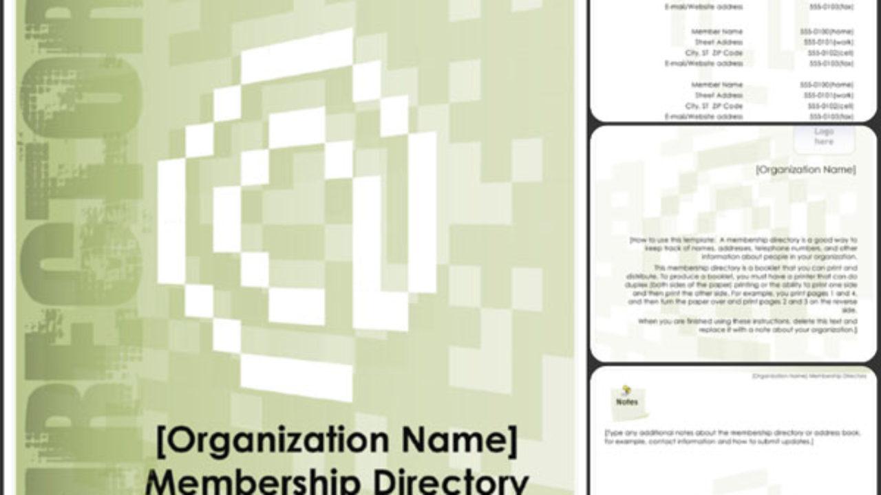 Membership Directory Template