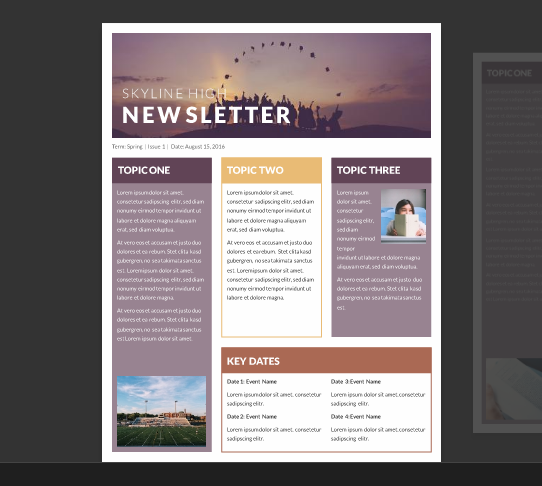 Microsoft Word Templates Newsletter
