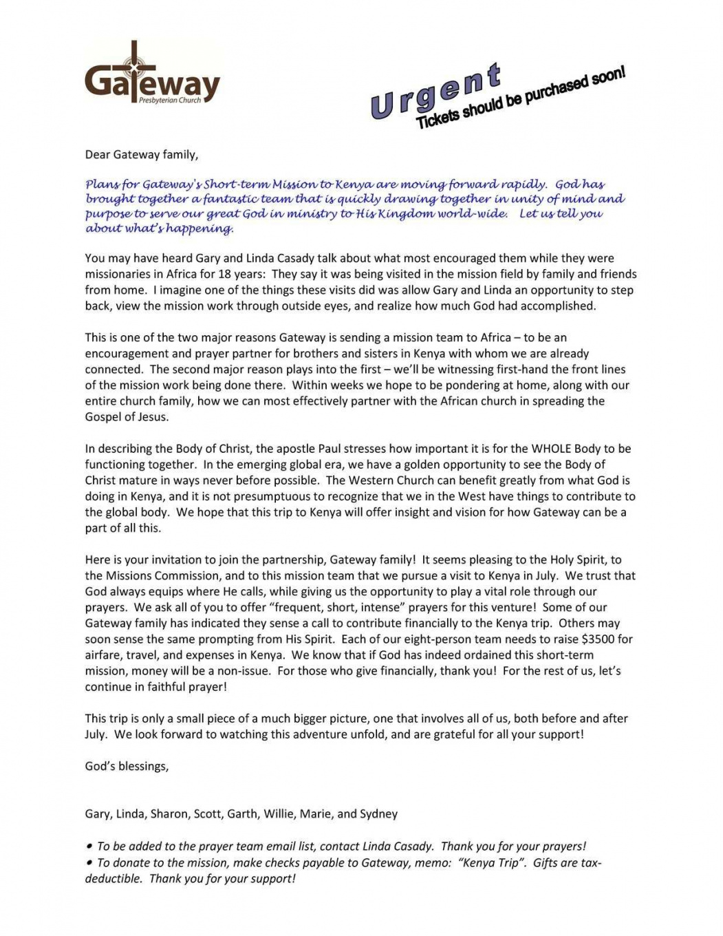 Mission Trip Support Letter Template Collection Mission Trip Donation Letter Template