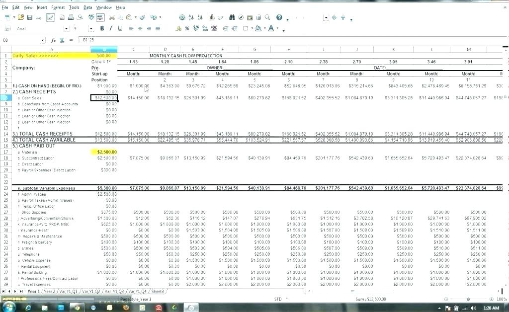 Monthly Financial Forecast Template