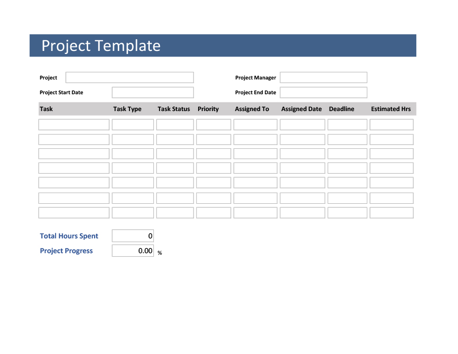 Multiple Project Tracking Template Word
