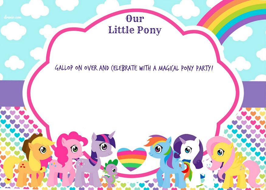 My Little Pony Birthday Invitation Free Template