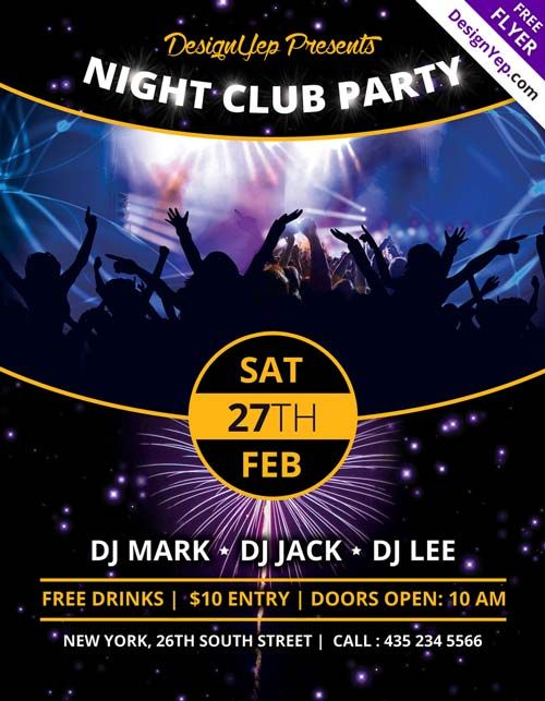 Nightclub Party Flyer Templates Free