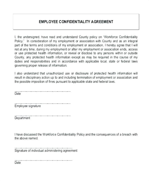 Non Disclosure Agreement Simple Confidentiality Agreement Template Word