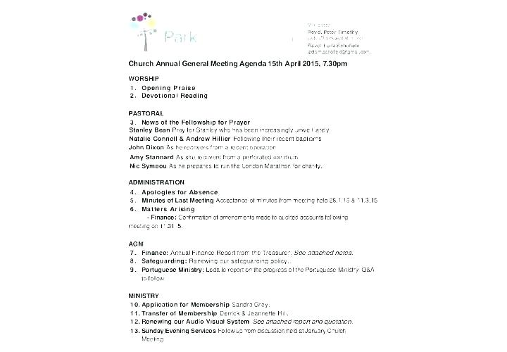 Non Profit Board Meeting Minutes Template Word