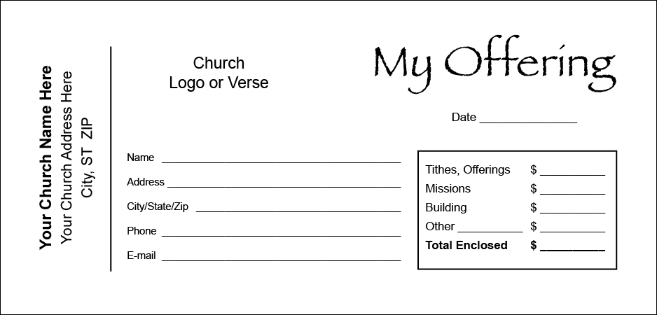Offering Envelope Template Free