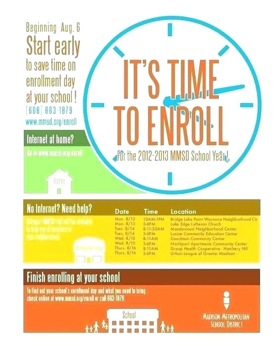 Open Enrollment Flyer Template