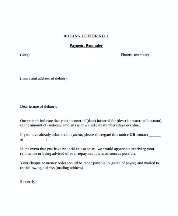 Overdue Invoice Letter Template