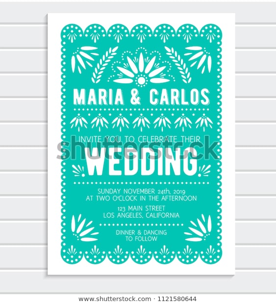 Papel Picado Invitation Template Free