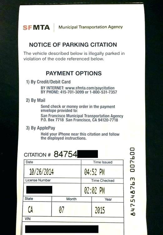 Parking Violation Template Microsoft Word