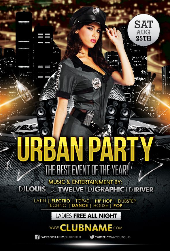 Party Flyers Templates Free