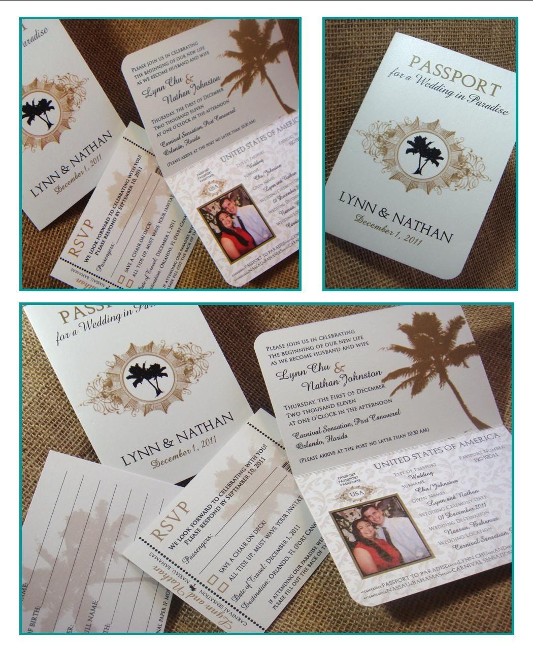 Passport Wedding Invitations Template