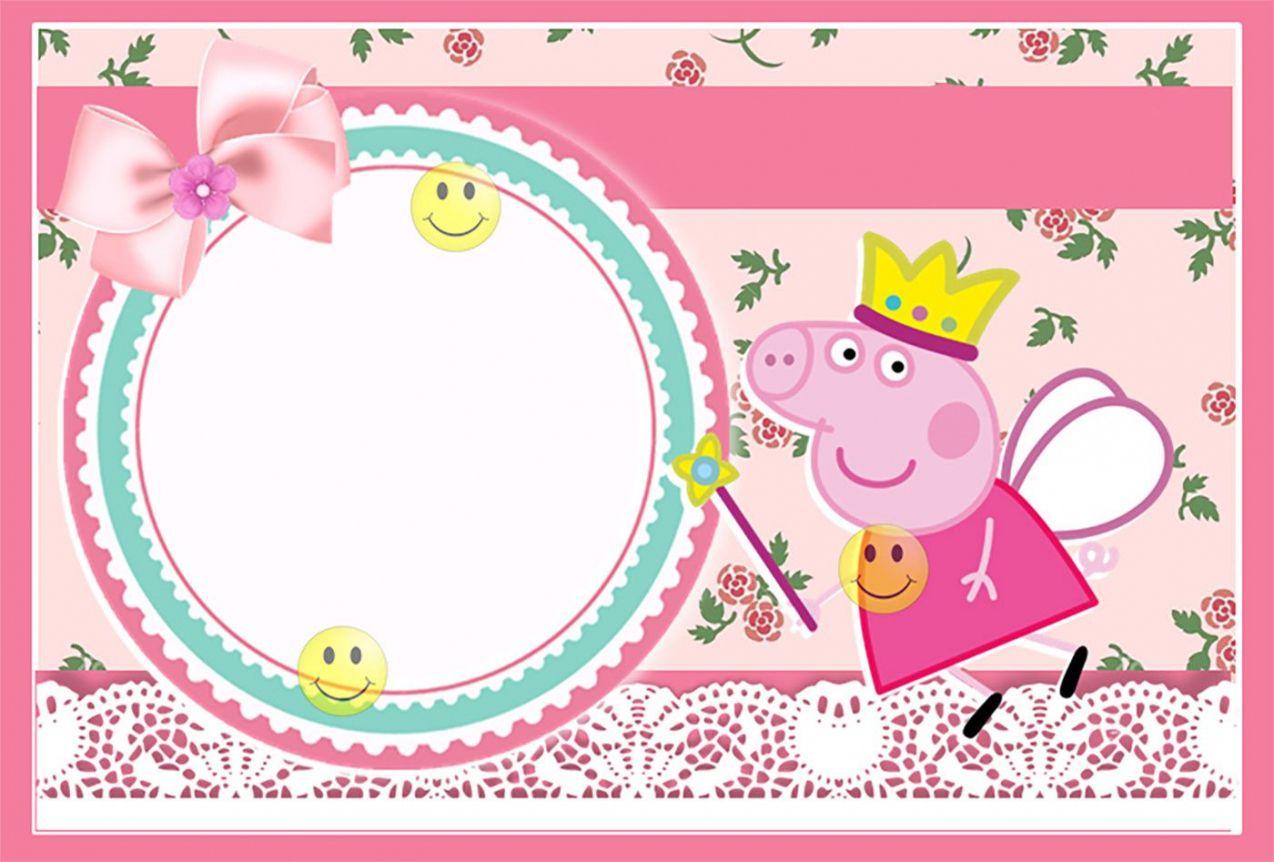 Peppa Pig Invitation Card Template