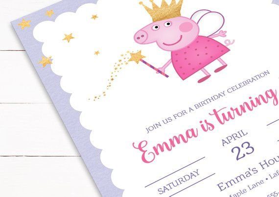Peppa Pig Invitation Template Download