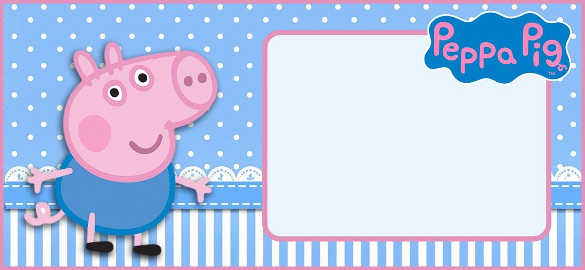 Peppa Pig Invitation Template Editable