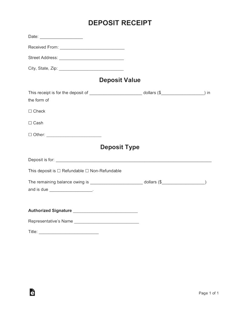 Personal Loan Payment Receipt Template