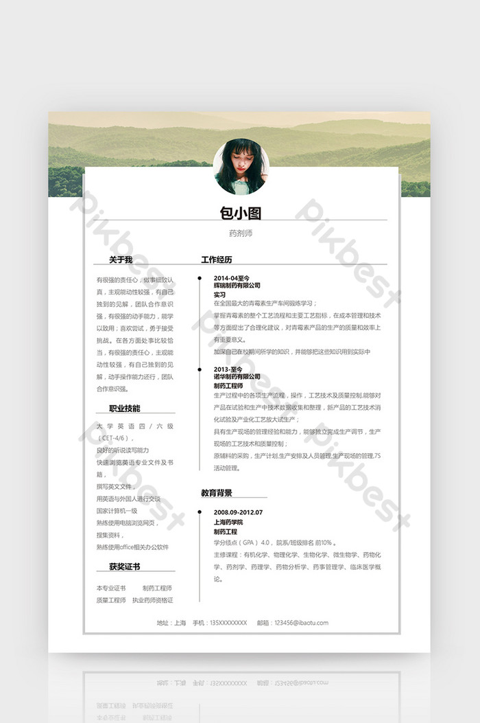 Pharmacist Resume Template Download