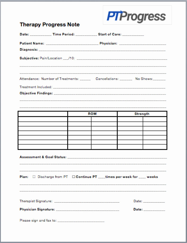 Physical Therapy Documentation Templates