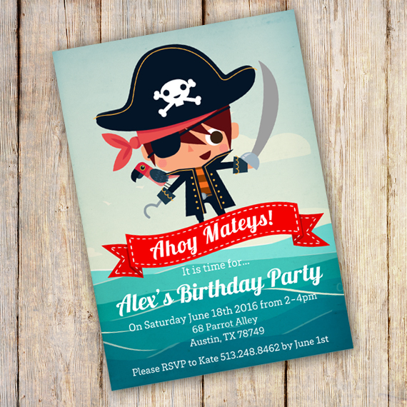 Pirate Invitation Template