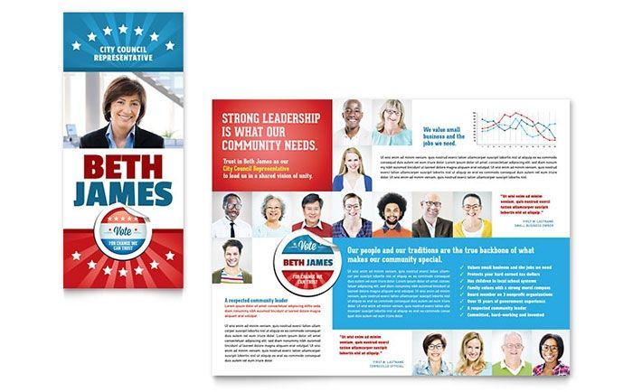 Political Campaign Brochure Template Free