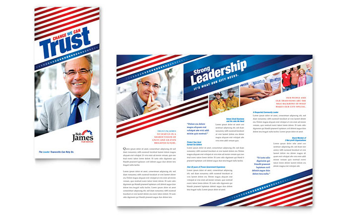 Political Campaign Brochure Template