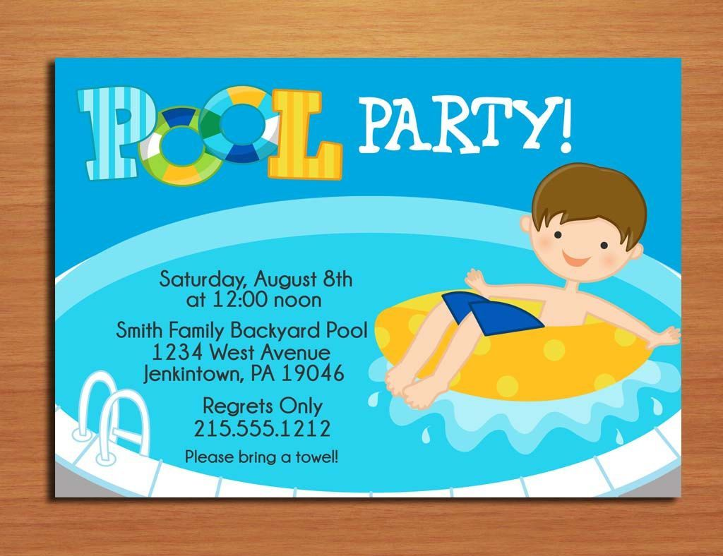 Pool Party Invitations Templates