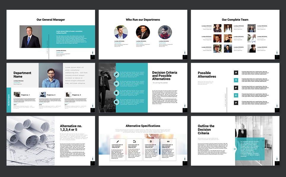 Powerpoint Case Study Presentation Template