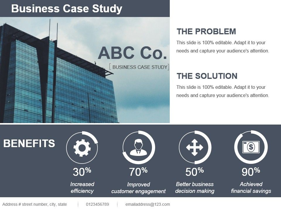Presentation Business Case Template Ppt
