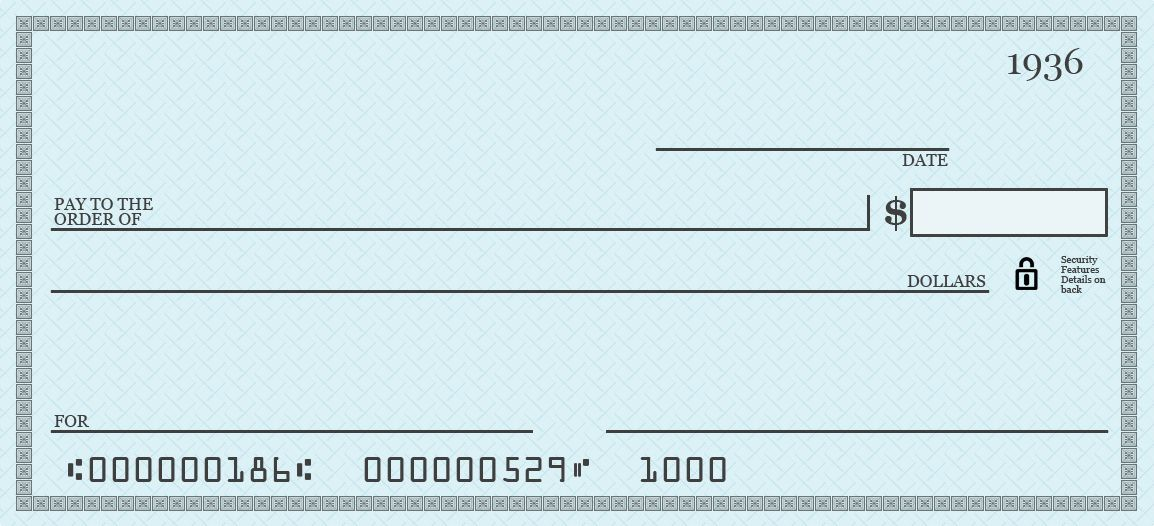 Printable Blank Check Template Pdf