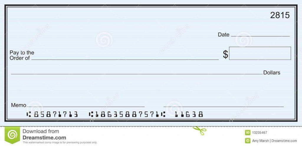 Printable Blank Check Template Word