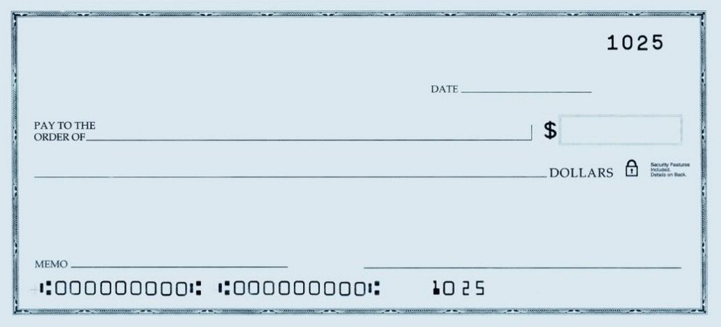 Printable Blank Check Template