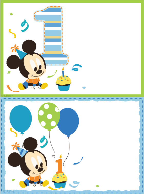 Printable Blank Mickey Mouse Invitation Template