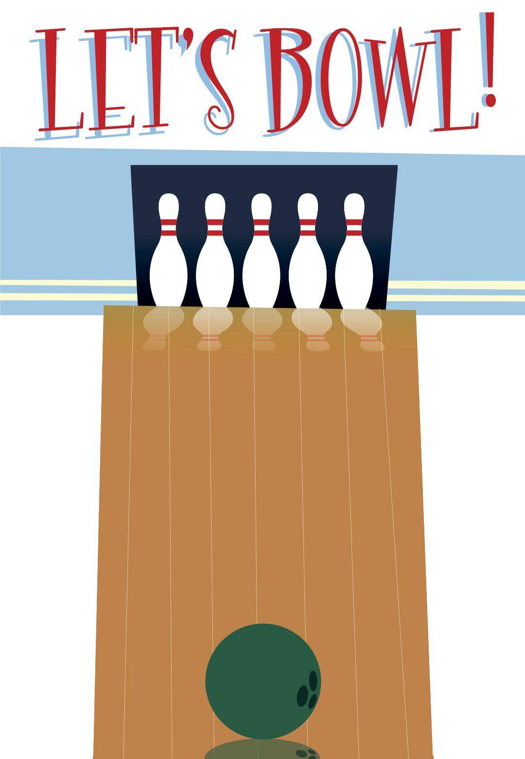 Printable Bowling Invitation Template Free