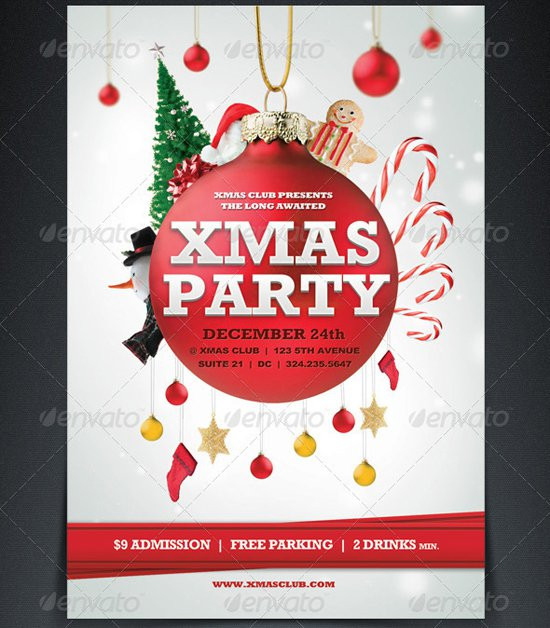 Christmas Flyers Free Printable Unique Printable Christmas Party Flyer Templates
